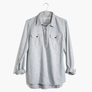Madewell Rivet & Thread Zip Front Popover Size XS